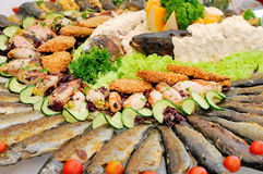 Seafood catering Royalty Free Stock Photography