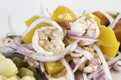 Seafood ceviche, typical dish from Peru stock photos