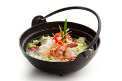 Seafood and Chicken Soup Royalty Free Stock Image
