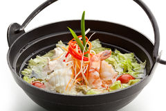 Seafood and Chicken Soup Stock Images