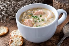 Free Seafood Chowder Stock Image - 132343211