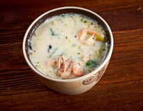 Seafood Chowder Royalty Free Stock Photography