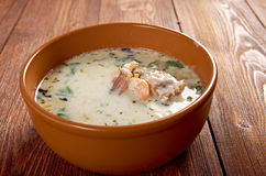 Seafood Chowder Stock Photography