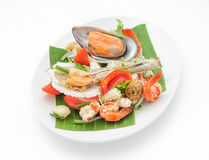 Seafood cocktail with mussels and shrimps Stock Photography