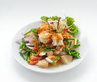 Seafood Cocktail With Green Onion Stock Photo