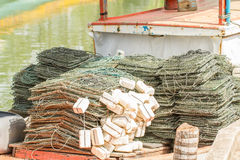 Seafood and collapsible traps Royalty Free Stock Photo