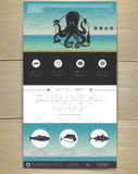 Seafood concept Web site design. Stock Images