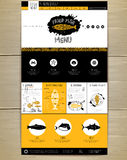 Seafood concept Web site design. Royalty Free Stock Photo