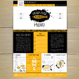 Seafood concept Web site design Royalty Free Stock Images