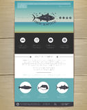 Seafood concept Web site design. Royalty Free Stock Images