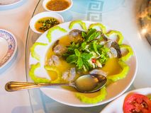 Seafood cooked by Chef from leading restaurant. Royalty Free Stock Image