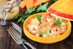 Seafood couscous Royalty Free Stock Image