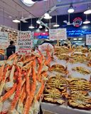 Seafood Crab And Legs For Sale At A Seattle Market