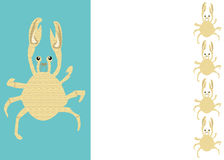Seafood crab border Royalty Free Stock Images