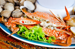 Seafood. Crab seafood dish on the table Stock Images