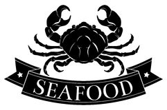 Seafood crab icon Stock Photos