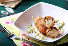 Seafood croquette Stock Image