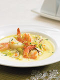 Seafood curry chowder Stock Photography