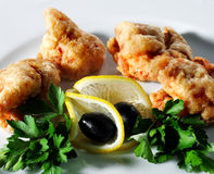 Seafood - Deep-Fried Shrimp Royalty Free Stock Photos
