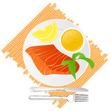 Seafood delicacy. Illustration; AI file included Stock Image