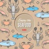 Seafood design template Stock Image