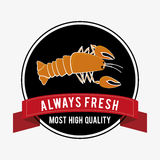 Seafood design, vector illustration. Royalty Free Stock Photos