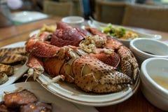 Seafood diner at Batan Isaland, Batanes stock photography