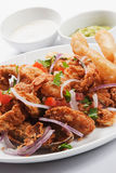 Seafood dish. Delicious lunch of seafood dish Royalty Free Stock Photography