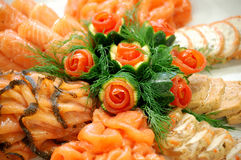 Seafood dish royalty free stock photography