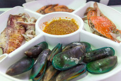 Seafood in the dish Stock Image