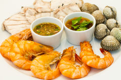 Seafood dish Royalty Free Stock Photos