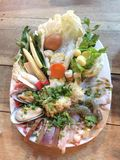 Seafood dishes all in. Seafood Buffet in Thailand Royalty Free Stock Image