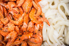 Seafood on display Royalty Free Stock Photography