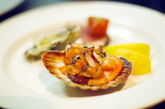 Seafood Entr�e Royalty Free Stock Images