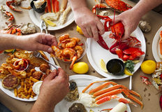Seafood Feast Stock Photo