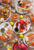 Seafood Feast Royalty Free Stock Images