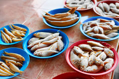 Seafood. Fish Market In Thailand. Healthy Nutrition. Food Backgr. Seafood. Fish Market. Close Up Of Variety Of Fresh Caught Raw Different Species Fish At Market Stock Photography