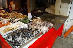 Fish market in Venice royalty free stock photos
