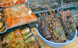Seafood and fishes Royalty Free Stock Photography