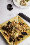 Seafood Fra Diavolo with Linguine 3 Stock Photography