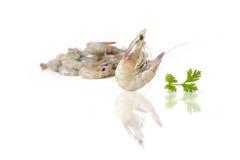 Seafood fresh shrimp isolated on white background Stock Photography