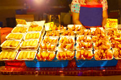 seafood on friday night market in Fisherman's village, Thailand Stock Image