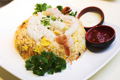 Seafood Fried Rice Royalty Free Stock Image