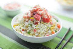 Seafood Fried Rice. With shrimp on a bowl Stock Photography