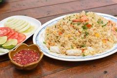Seafood fried rice Stock Photo