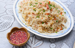 Seafood fried rice. A Seafood fried rice on the table Royalty Free Stock Photography
