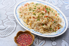 Seafood fried rice. A Seafood fried rice on the table Stock Images