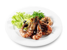 Seafood - Fried Shrimps Royalty Free Stock Photos
