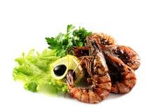 Seafood - Fried Shrimps Stock Photos