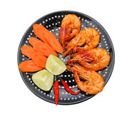 Seafood - Fried Shrimps Dressed Royalty Free Stock Images